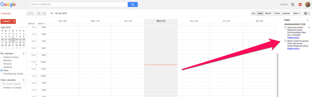 gmail tasks in google calendar
