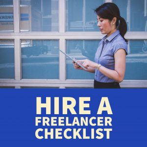 how to hire a freelancer checklist