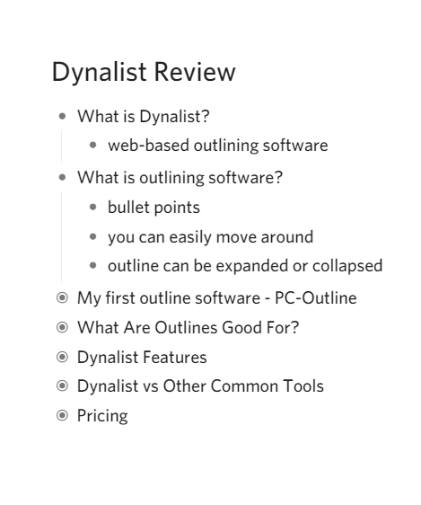 Dynalist Review: Outliner, Planner and Checklist Creator