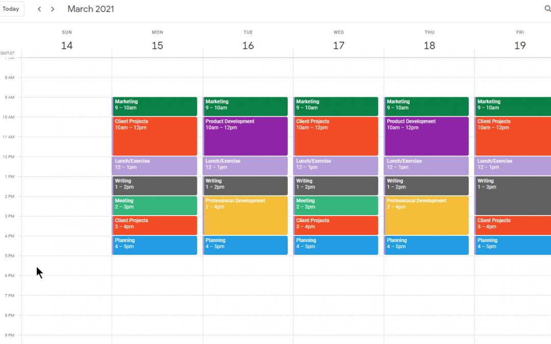 Google Calendar Time Blocking
